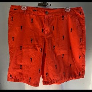 Orange Seahorse Cotton Shorts Merona